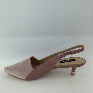 DKNY Women's Demi Sling Back in Pink Size US 6